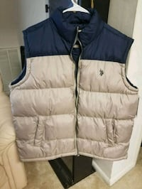 New blue and gray zip-up vest XL Falls Church, 22042