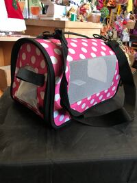 pink and white polka dotted pet carrier South San Francisco, 94080