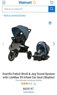 New Evenflo Folio3 Stroller and Infant car seat
