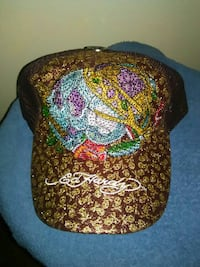 red and brown Ed Hardy embro fitted cap Mechanicsville, 23111