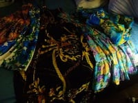 black, yellow, and blue floral textile Brooklyn, 11214