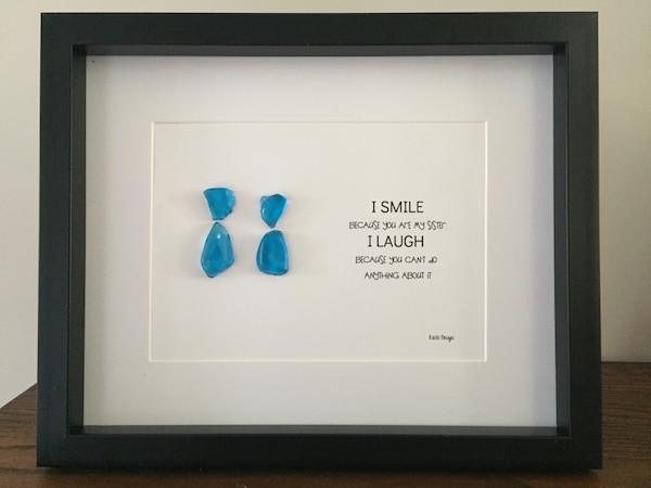Beautiful Sisters Sea Glass Frame