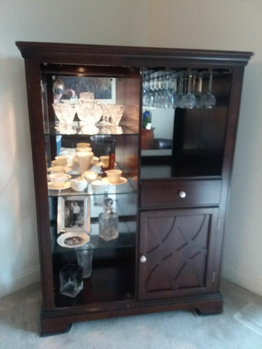 Blue Hills Lighted China Cabinet