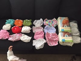 Reusable diapers with inserts