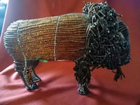 Eclectic Wire and Beads Horned Buffalo...I Think Fort Thomas