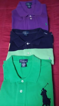 3 Ralph Lauren short sleeve polo shirts