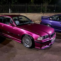 pembe BMW E36 sedan 8736 km