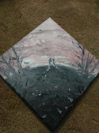 9 inch square painting