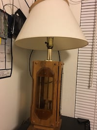 White and brown table lamp 1022 mi