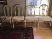 Four linen padded custom chairs Bethesda, 20814