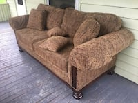 brown and black floral fabric sofa set South Hadley, 01075
