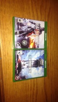 Battlefield 4 and battlefront xbox one games
