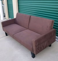 brown fabric 2-seat sofa Frisco, 75034