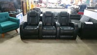 Bonded leather theater seating .