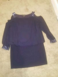 Holiday party ready navy blue cold shoulder sequins dress Baltimore, 21229