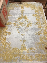White, and yellow floral area rug Zachary, 70791