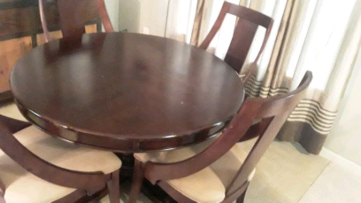 THOMASVILLE Dining Chairs 4 And POTTERY BARN TABLE