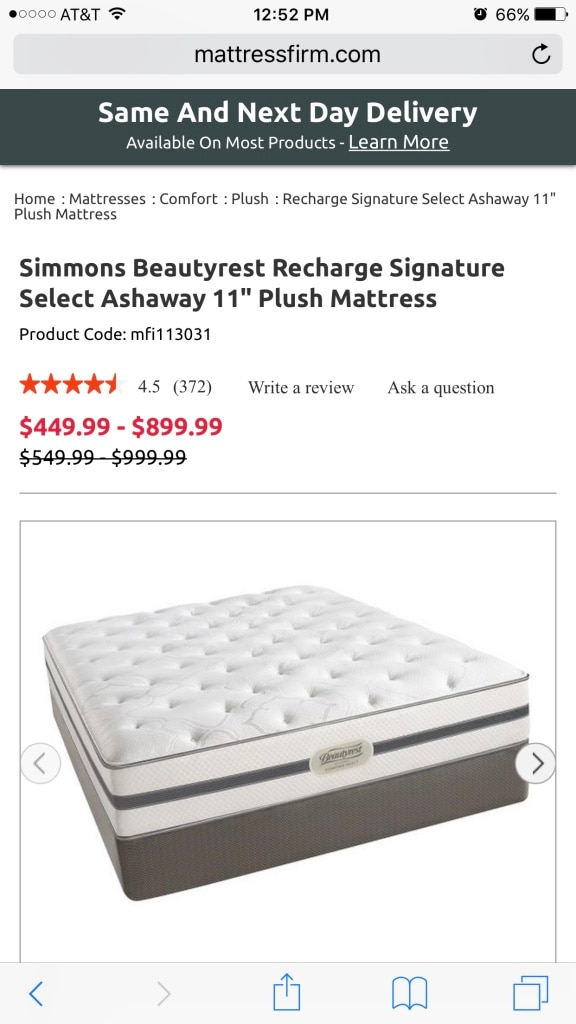 simmons beautyrest recharge signature select ashaway 11 plush mattress queen size in miami letgo