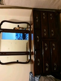 brown wooden cabinet with mirror Coquitlam