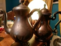 two brown ceramic vases with lid Dearborn, 48126
