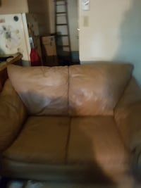 brown leather 2-seat sofa Regina, S4T 3K7