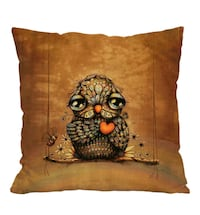 brown and black floral throw pillow Montreal, H8T