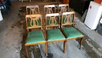 6 Antique wooden dining room chairs 6 Edmonton, T5T 6E2