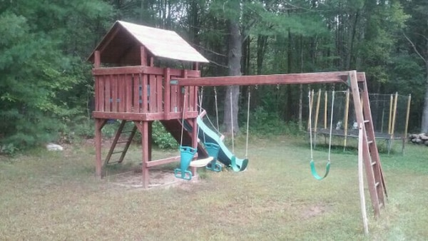 Used Wooden Swing Set For Sale In East Brookfield Letgo