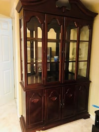 Brown glass windowed China cabinet  Centreville, 20120