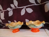 Orange/Mint\Tan Ceramic Bowl Set Brunswick, 21716