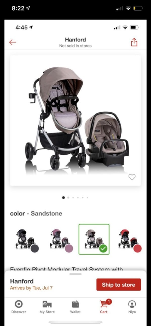 Baby carseat and stroller  7a875913-7d96-4afd-a48c-c06e1653d759