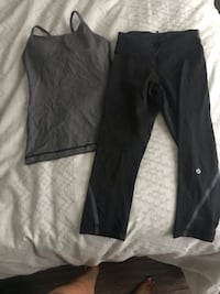 Lulu lemon tank top and capris tank top size 2 and capris size 2  St Catharines, L2N 2J1
