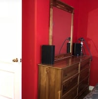 Brown wooden dresser with mirror  Richmond Hill, L4E 4R1