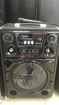black stereo component