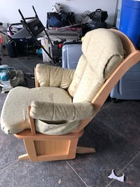 white and brown wooden glider chair Vaughan, L4H 2N7