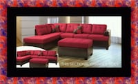 Red sectional with ottoman 41 mi