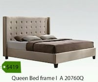 brown wooden bed frame with white mattress La Mirada, 90638