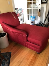 red leather sofa chair with ottoman Concord, 03301