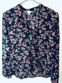 Floral wrap over blouse Toronto, M6P 2W7
