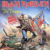 Iron Maiden-THE TROOPER-1983 1st PRESS Maxi Single LP Record- German Import Rockford