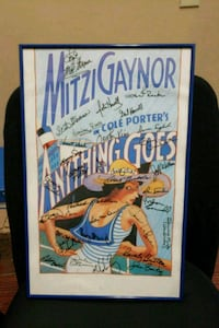 """ Anything Goes "" Movie Poster- Signed Indio, 92201"