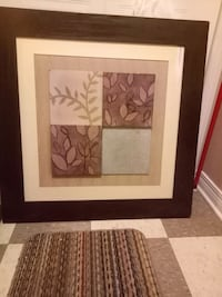 brown wooden framed painting of flowers Montreal, H2P 1X2