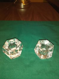Pair of. heavy lead crystal candle holders Maryland, 21207