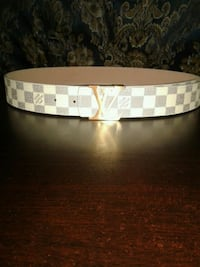 Authentic Louis Vuitton belt white checkered   Toronto, M4C 2G1