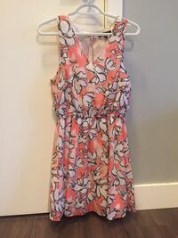 women's orange and white floral sleeveless dress North Vancouver, V7P 1T2