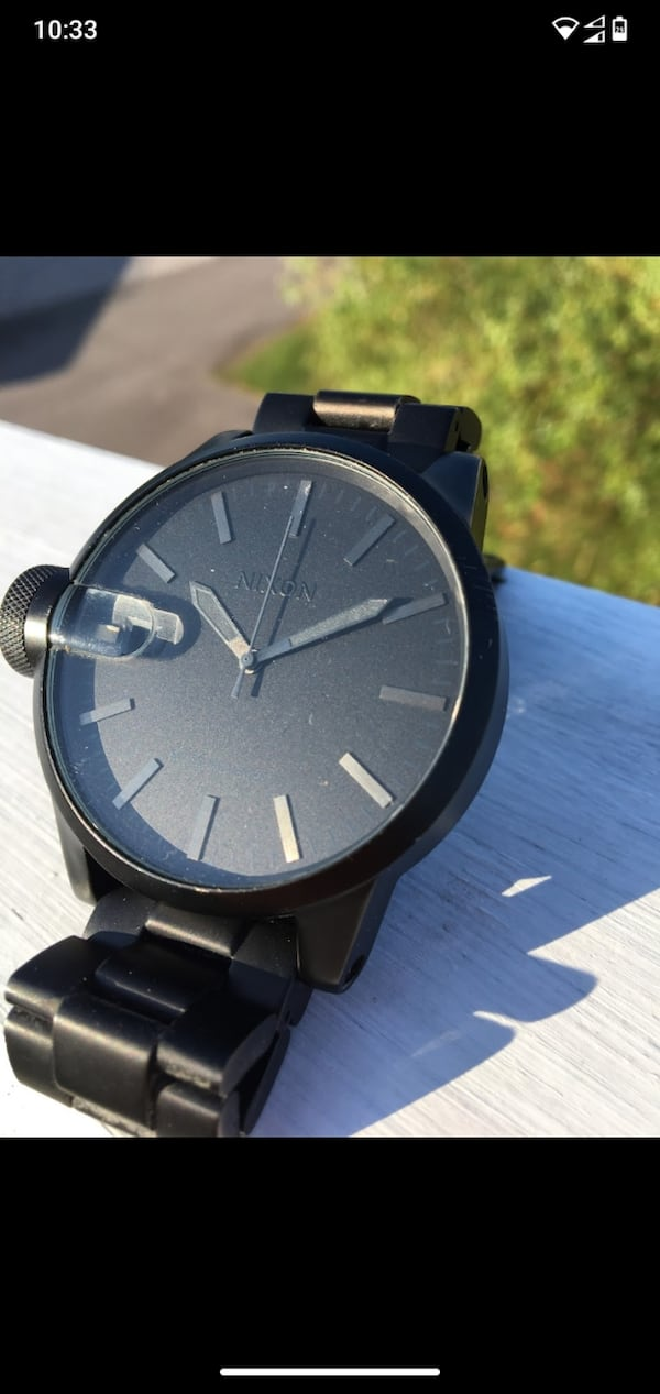 NIXON - The Chronicle Sort/Stål Ø44 mm   d7d35107-b0d8-4795-bb93-7da9ea5d2691