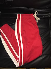 Red and white  track pants Montréal, H3W 1L1