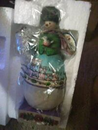 Jim Shore snow man ceramic figurine Elkhart, 46516