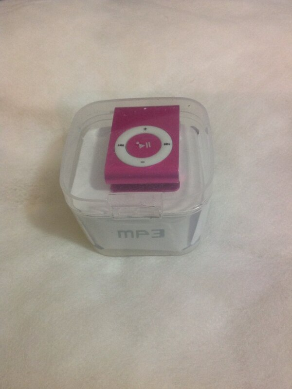 MP3 rose et blanc