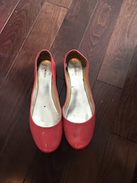 Pink Leather flats Manners Sutton, E6K